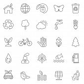 picture of wind wheel  - Eco line icons set  - JPG