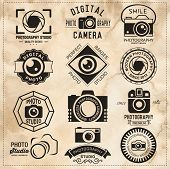 picture of flashing  - Photography vintage retro badges - JPG