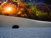 stock photo of fantasy landscape  - White Sands Fantasy Landscape - JPG