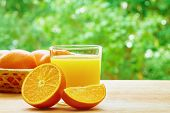 pic of orange  - Glass of orange juice - JPG