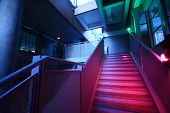 Stairs With Colorful Lighting