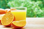 picture of orange  - Glass of orange juice - JPG