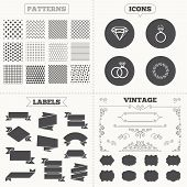 picture of vintage jewelry  - Seamless patterns - JPG