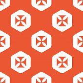 pic of maltese-cross  - Image of maltese cross in white hexagon - JPG
