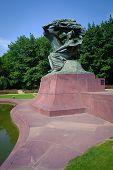 Chopin Monumment In Lazienki Park