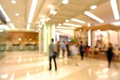 image of department store  - Blur of Defocus Background of People in Shopping Mall or Department store - JPG
