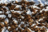 Pile Of Chopped Logs