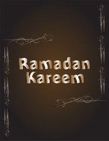 pic of ramadan mubarak card  - Ramadan Kareem Background luxury card - JPG