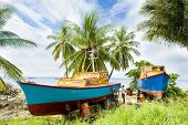 image of greater antilles  - fishing boats - JPG