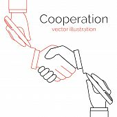 Cooperation Concept Partnership poster