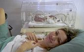 newborn baby with mother after delivery