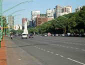 Wide Avenue In Buenos Aires
