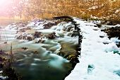Winter creek in the national park Plitvicka Jezera - Croatia