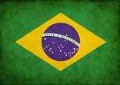 Постер, плакат: Гранж флаг Бразилии