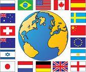 globe with flag