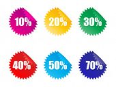 Discount tags - vector illustration