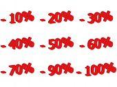 3d number for discount - vector illustration