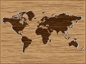 Wooden map illustration