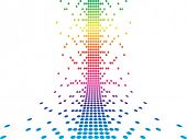 pixels vector illustration