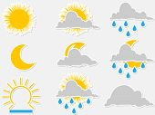 Water symbols - vector illustration