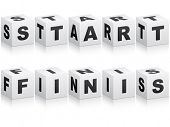 start and finish word