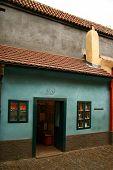 Prague. Golden Lane. Franz Kafka's sister's house.