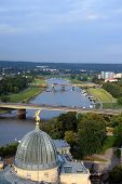 Travel in Germany. Dresden. Elbe