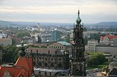 View of Dresden, Hofkirche, Germany