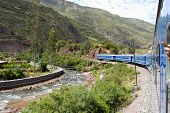 Tourist Train In Urubamba Valley - Peru poster