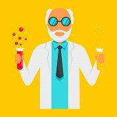 Scientific Man Icon. Flat Illustration Of Scientific Man Vector Icon For Web Design poster