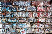 old colours brick wall