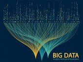 Big Data Analytics Methods And Visualization Concept Vector Design. 0 And 1 Binary Matrix Data Visua poster