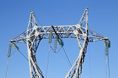 High Voltage Pylon Or High Voltage Tower/ Electricity/ Dangerous/ Electrical Current poster