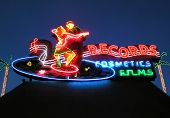 Couple Dancing on a Record Album (neon sign)