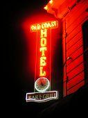 Old Coast Hotel neon sign, Fort Bragg, California
