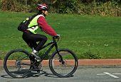 Cyclist in a bike race