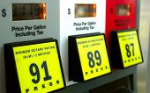 stock photo of high-octane  - Gas prices at the pump - JPG