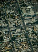 Aerial view of Los Angeles California