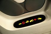 No Smoking and Fasten Seatbelt Sign Inside an Airplane