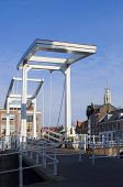 The famous draw bridge over the Spaarne in Haarlem, the Netherlands