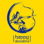 Lord Rama In Navratri Festival Of India Poster For Happy Dussehra poster