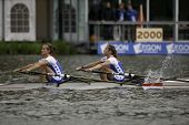 AMSTERDAM-JULY 23: Woerner and Leijssen (Dutch  BLW2x ) race for a place in the finals of the world