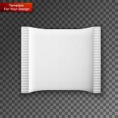 Blank White Plastic Sachet For Medicine, Condoms poster