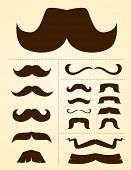 stock photo of mustache  - mustache collection - JPG