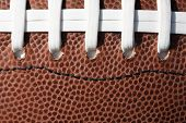 image of ncaa  - Close up of a football and threads - JPG