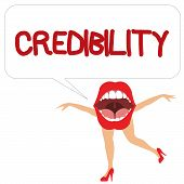Word Writing Text Credibility. Business Concept For Quality Of Being Convincing Trusted Credible And poster