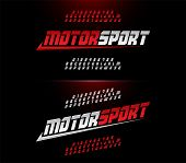 Sport Modern Alphabet And Number Fonts. Motor Sport Racing Typography Italic Font. Vector Illustrato poster