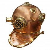 Antique Divers Helmet isolated with clipping path