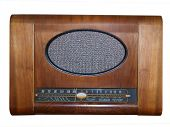 Antique Radio isolated with clipping path