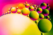 Space Or Planets Universe Cosmic Abstract Background. Abstract Molecule Sctructure. Water Bubbles. M poster